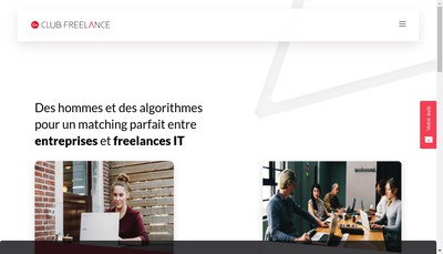 Site internet de Club Freelance France