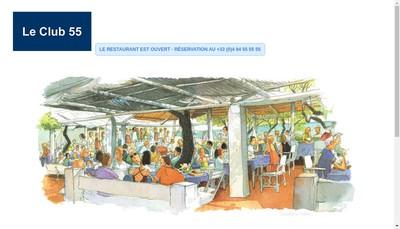Site internet de Le Club 55