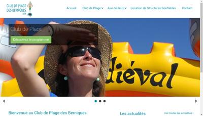 Capture d'écran du site de Club des Berniques