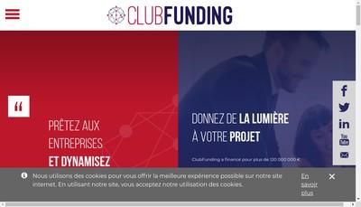 Site internet de Club Funding