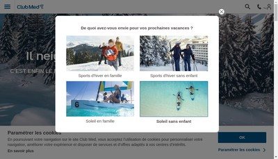 Site internet de Easy Club Med, Club Aquarius, Club Junior, Club Renaissance, Club Med Beauty, Club Mediterrannee, Cl