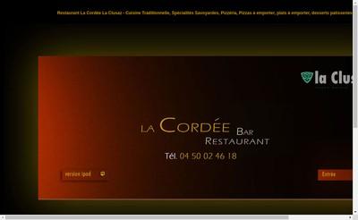 Site internet de Restaurant la Cordee