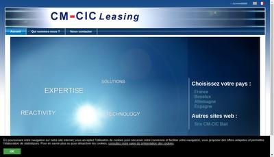 Site internet de Cmcic Lease