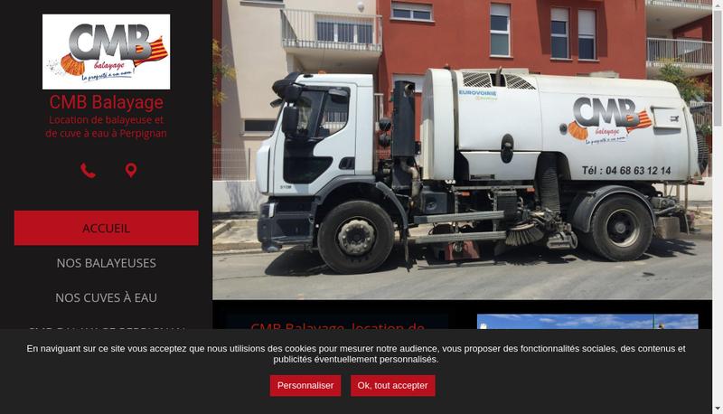 Capture d'écran du site de Cmb Balayage