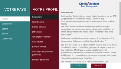 Site internet de Credit Mutuel Asset Management