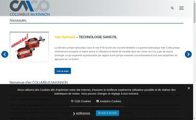 Site internet de Yale Levage