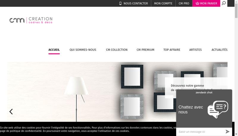 Capture d'écran du site de Cm Creation
