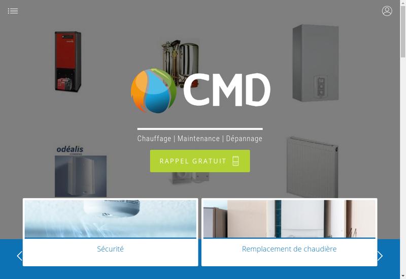 Capture d'écran du site de Chauffage Maintenance Depannage
