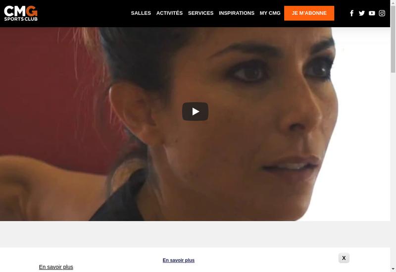 Capture d'écran du site de Club Med Gym Waou Club Med Gym