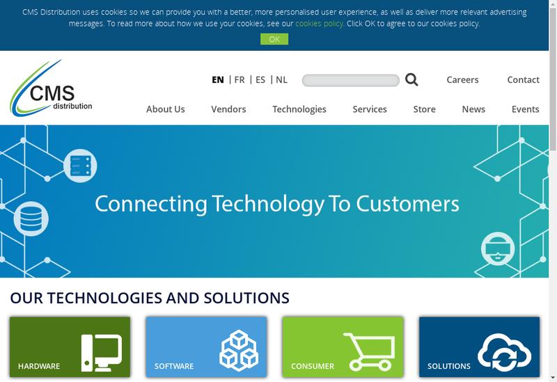 Capture d'écran du site de CS Distribution