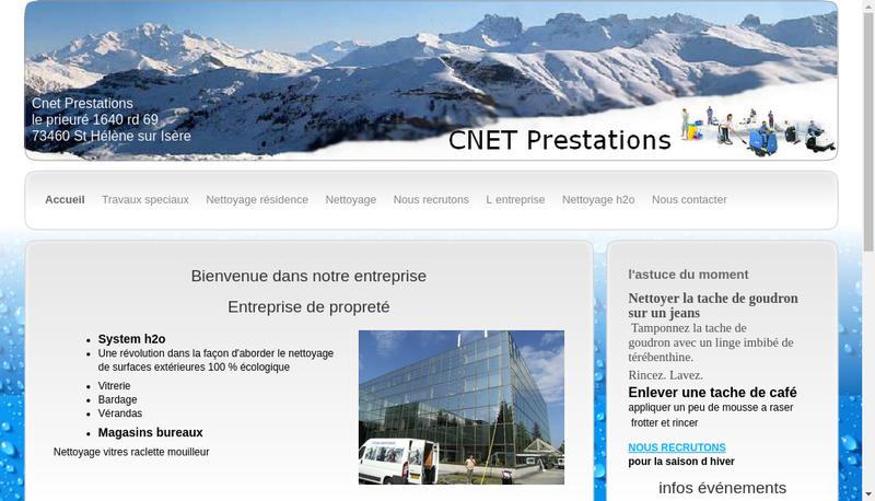 Capture d'écran du site de Cnet Prestations