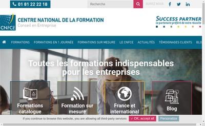 Site internet de Centre Nal de la Formation Conseil en Entr