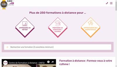 Site internet de Centre National Formation Prive a Distance