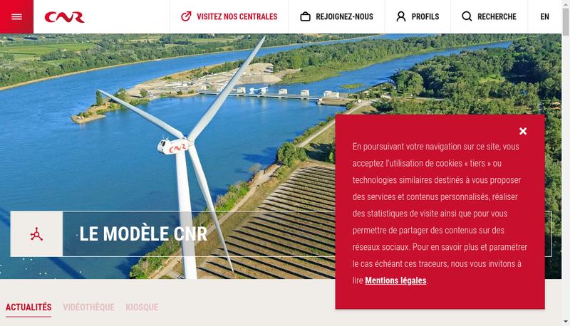 Site internet de Compagnie Nationale du Rhone