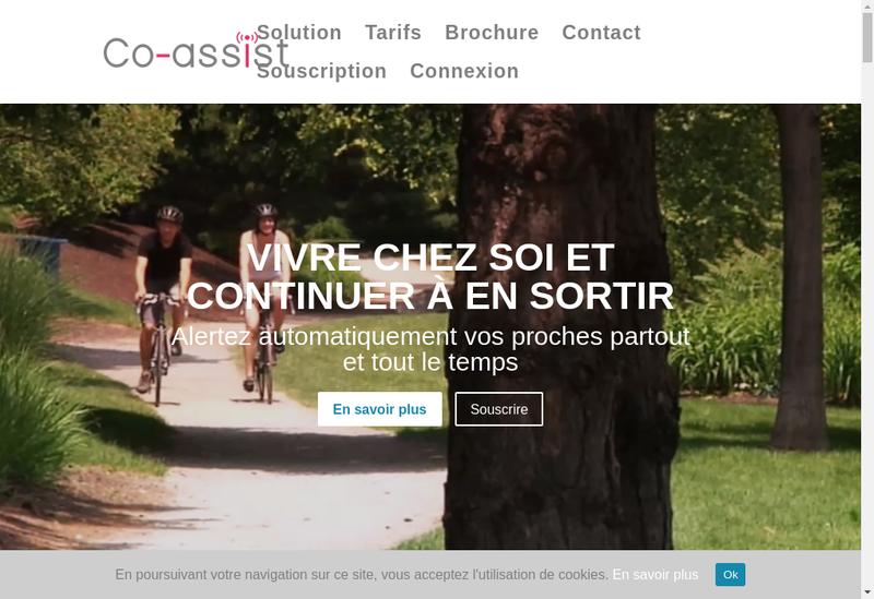 Capture d'écran du site de Co Assist