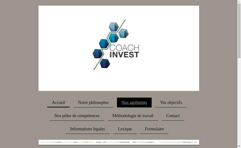 Capture d'écran du site de Coach Invest