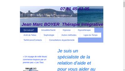 Capture d'écran du site de Jean Marc Boyer
