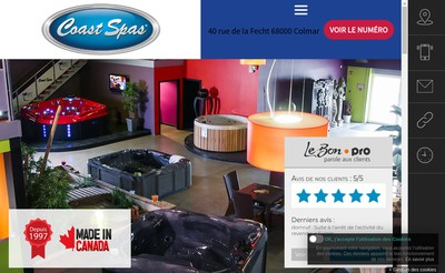 Site internet de Coast Spas France
