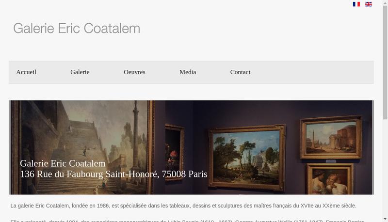 Capture d'écran du site de Societe Baugin
