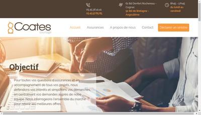 Site internet de Coates Courtage