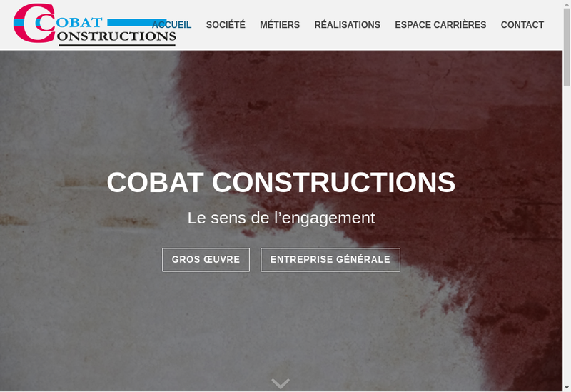 Capture d'écran du site de Cobat Constructions