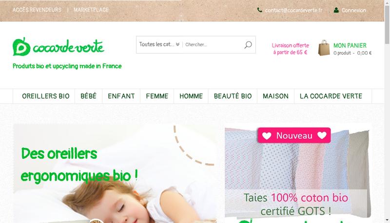 Capture d'écran du site de La Cocarde Verte