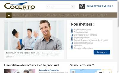 Site internet de Cocerto Aquitaine