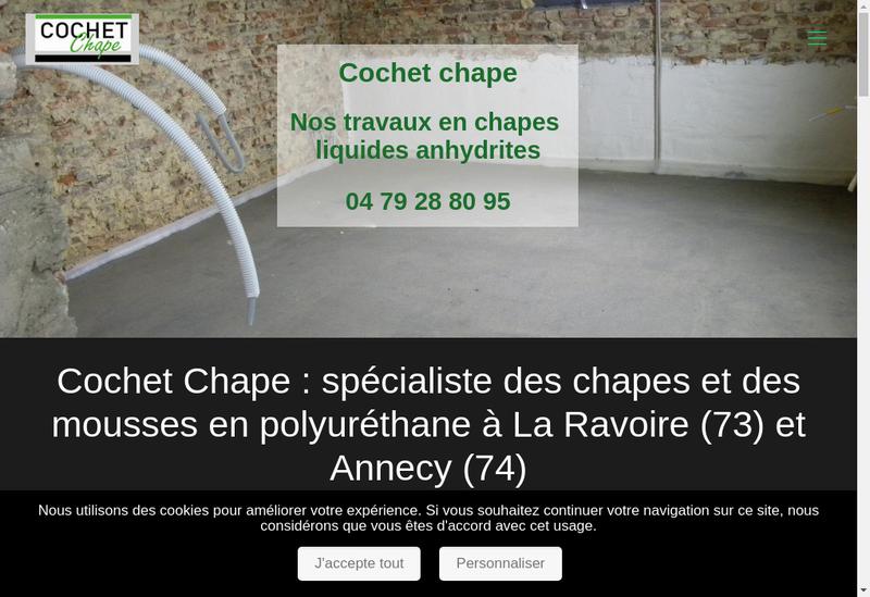 Capture d'écran du site de Cochet Chape