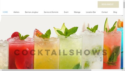 Site internet de Cocktailshows