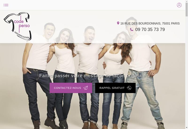 Capture d'écran du site de Code Perso