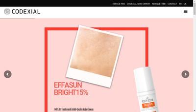 Site internet de Codexial Laboratoire Dermatologique