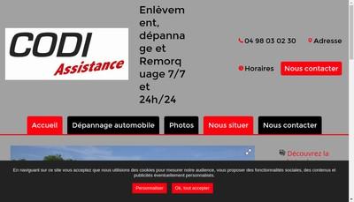Site internet de Codi Assistance
