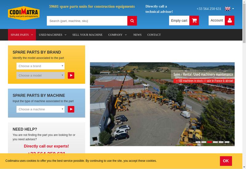 Capture d'écran du site de Codimatra