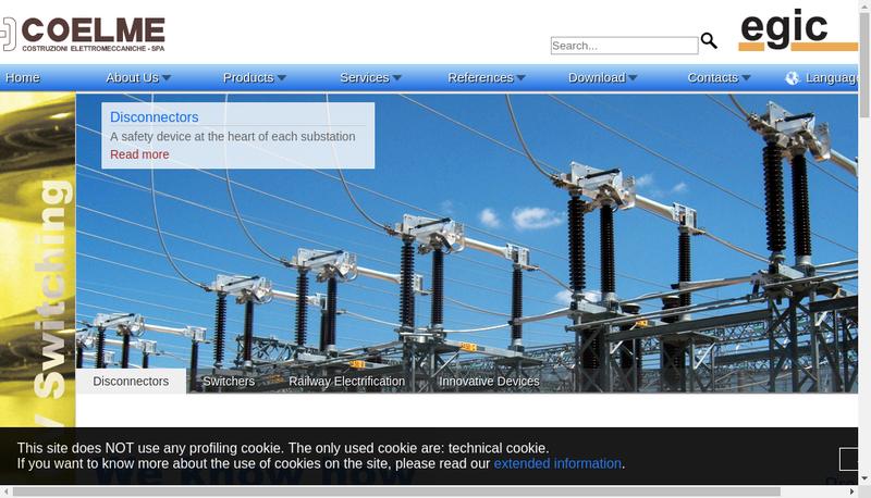 Capture d'écran du site de EGIC