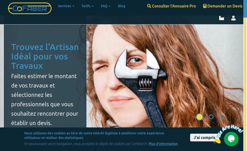 Capture d'écran du site de Cofaber