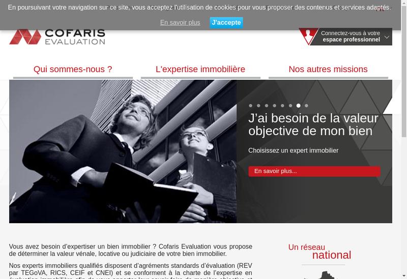 Capture d'écran du site de Cofaris Evaluation
