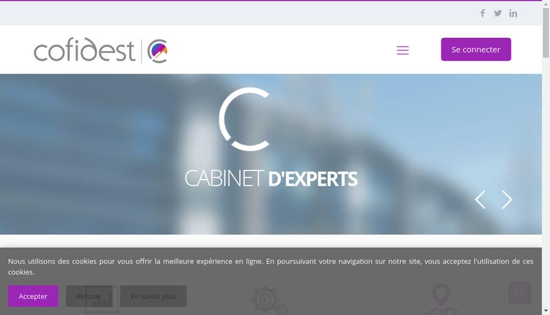 Capture d'écran du site de Cofidest Annecy