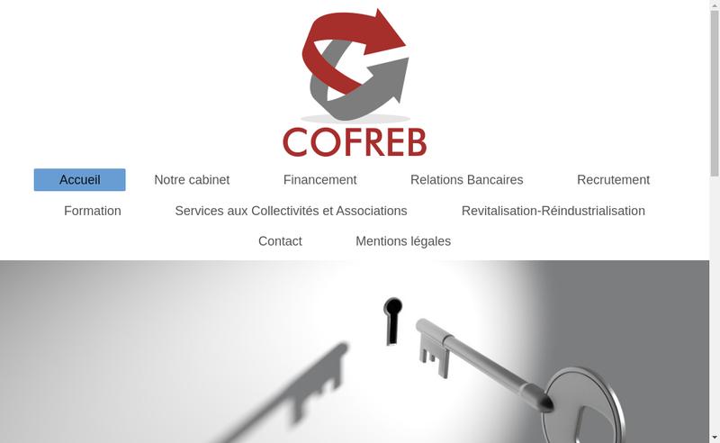 Capture d'écran du site de Cofreb