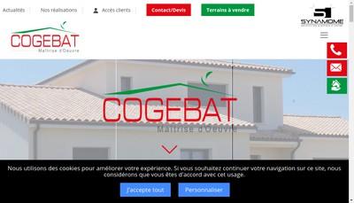 Site internet de Cogebat Maitrise d'Oeuvre
