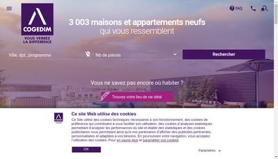 Site internet de Cogedim Grand Lyon