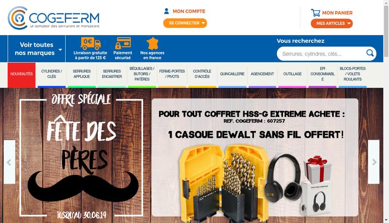 Capture d'écran du site de Cogeferm