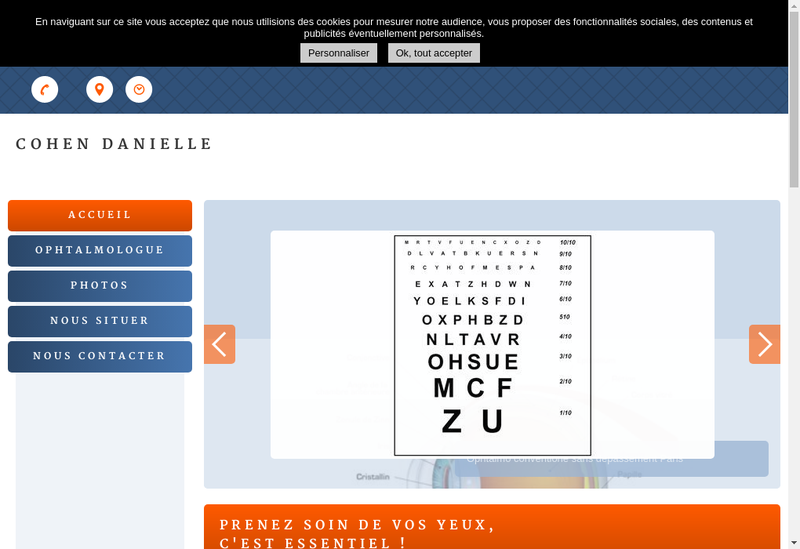 Capture d'écran du site de Daniele Cohen