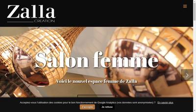 Site internet de Zalla Creation