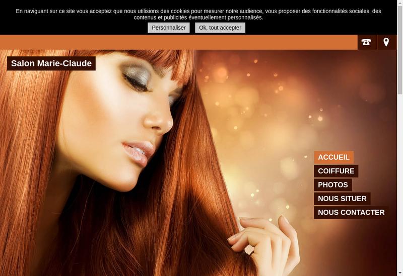 Capture d'écran du site de Frappier