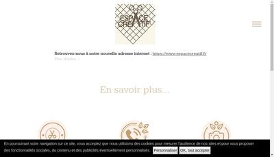 Site internet de Espace Creatif'