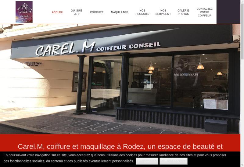 Capture d'écran du site de Carel M