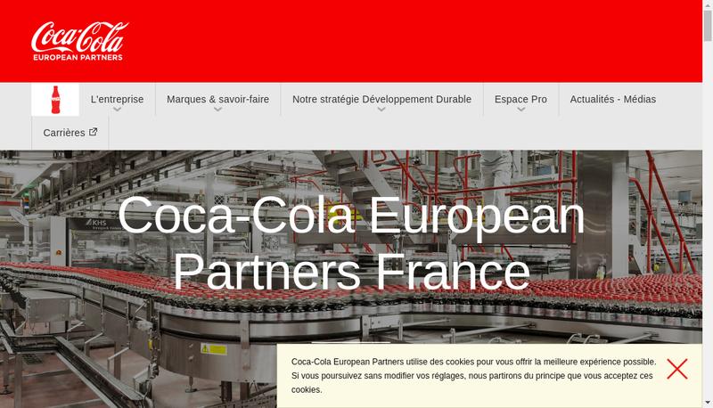 Capture d'écran du site de Ccep France