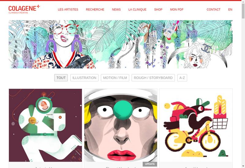 Capture d'écran du site de Colagene