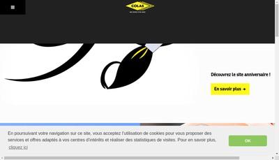 Site internet de Colas Ile de France Normandie