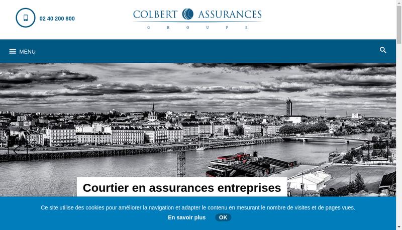 Capture d'écran du site de Colbert Assurances